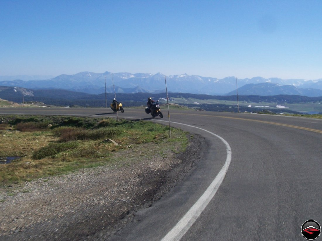 Motorcycles on Beartooth Pass