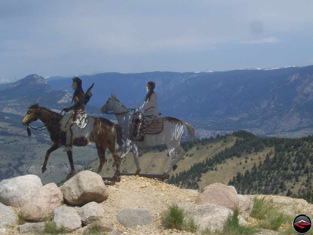 Statue of Chief Joseph leading the Nez Perce Indians