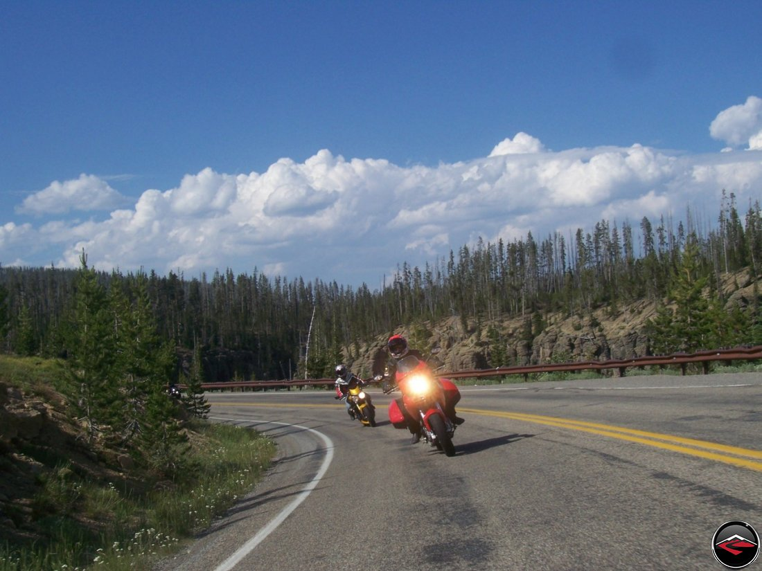 motorcycles riding in yellowstone national park