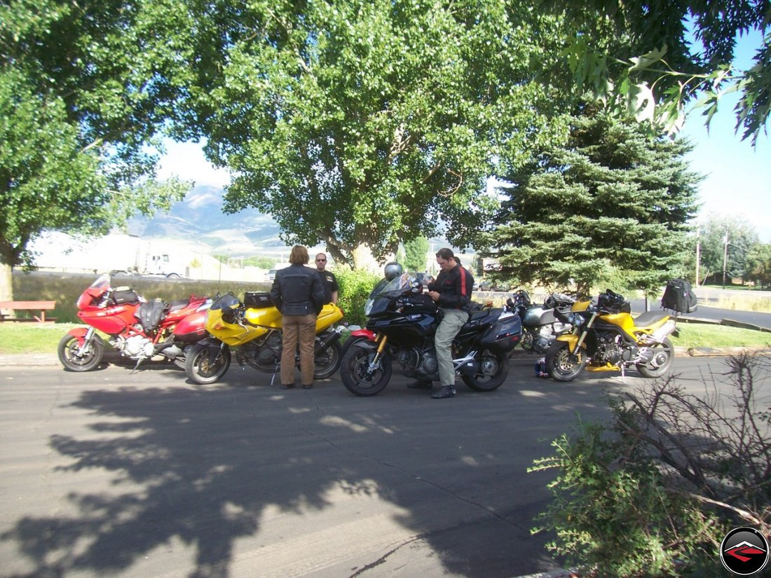 motorcycles at the sinclair service station mountain green utah