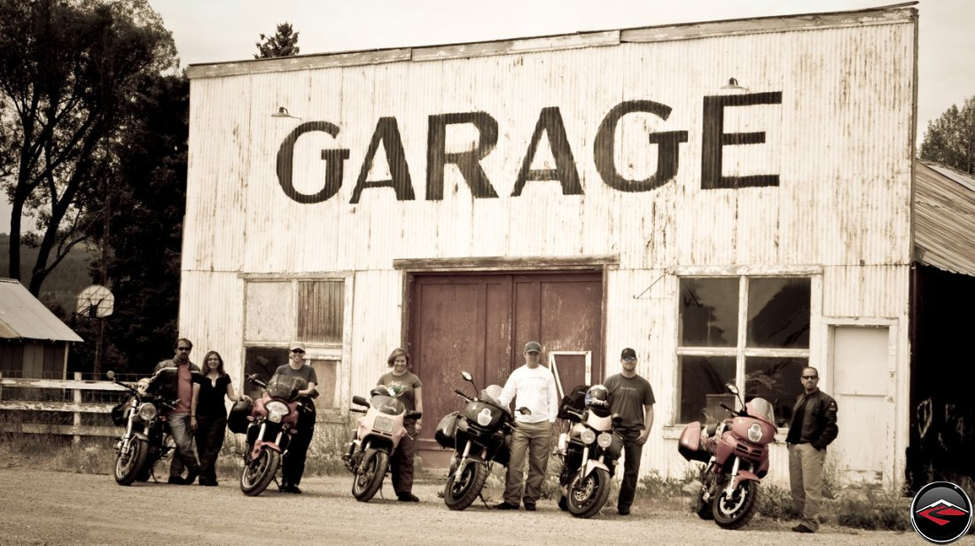 Group Shot at the garage in freedom wyoming