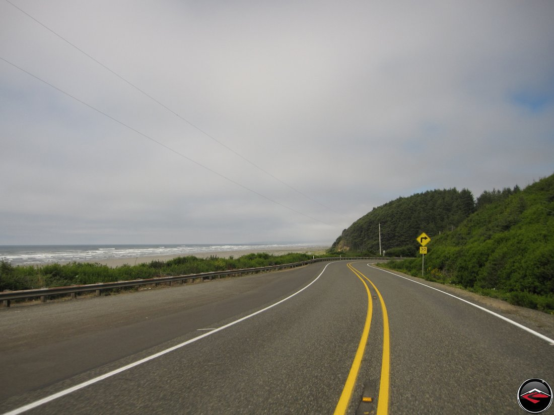 Ocean and 30mph Corner on Washington Highway 109