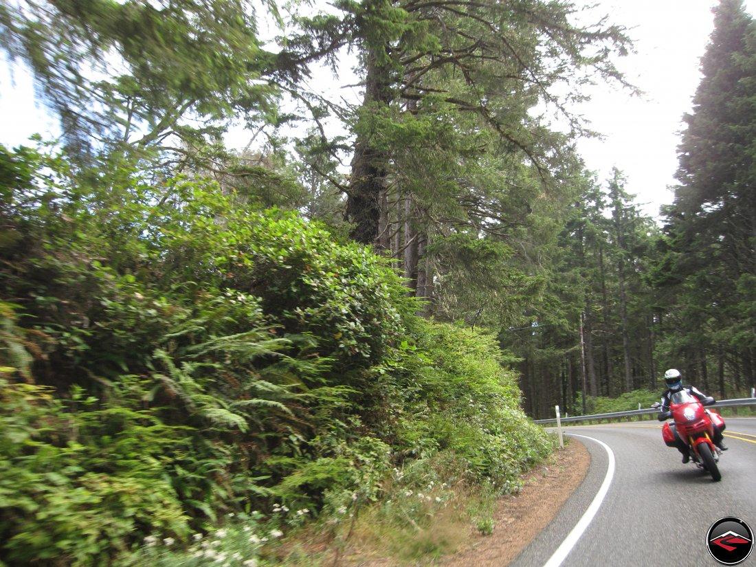 Ducati Multistrada 1100 Motorcycle Riding Washington Highway 109