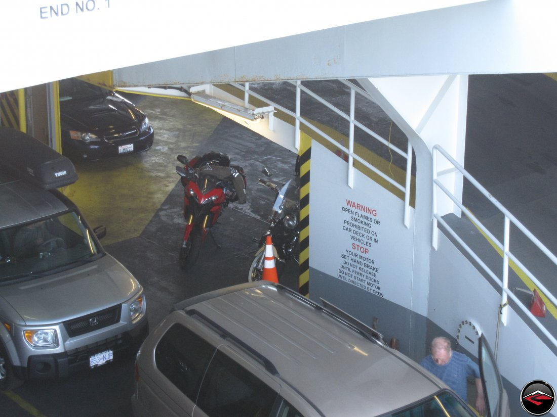 Ducati Multistrada 1200 Motorcycle on a Ferry Boat