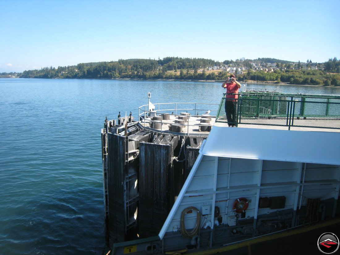 Anacortes ferry getting ready to disembark