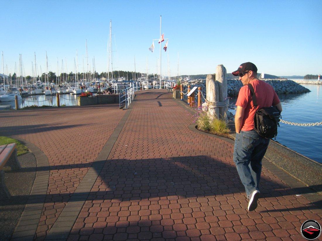 Walking around Sidney, British Columbia