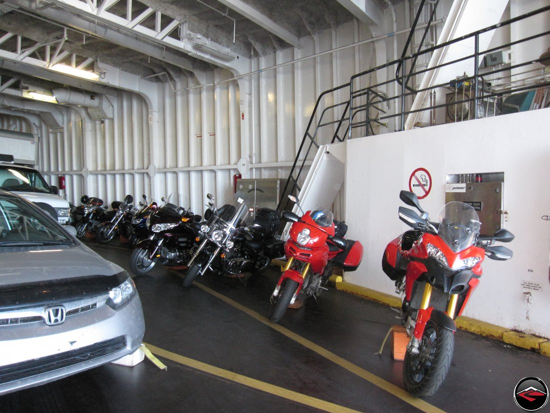 Motorcycles on the Comox Ferry to Powell River