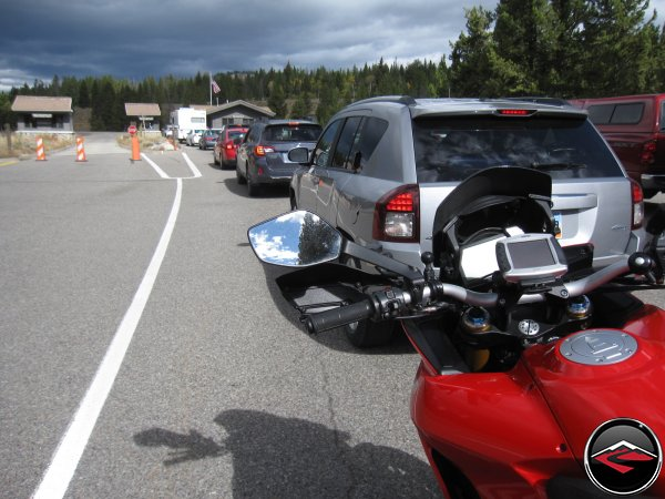 Long Line to Enter Yellowstone National Park