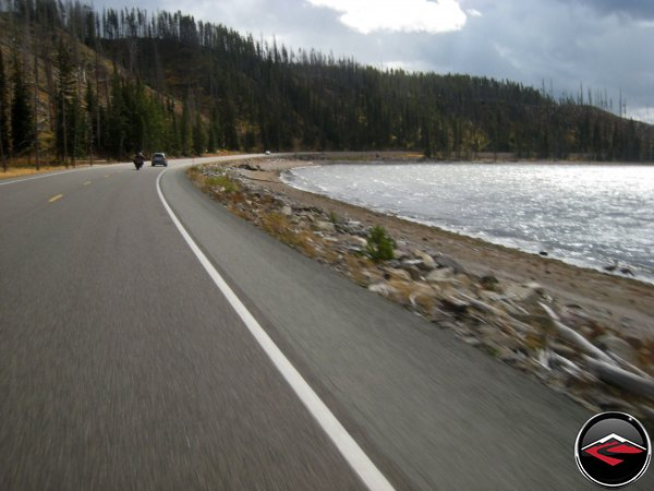 Riding Past Yellowstone Lake