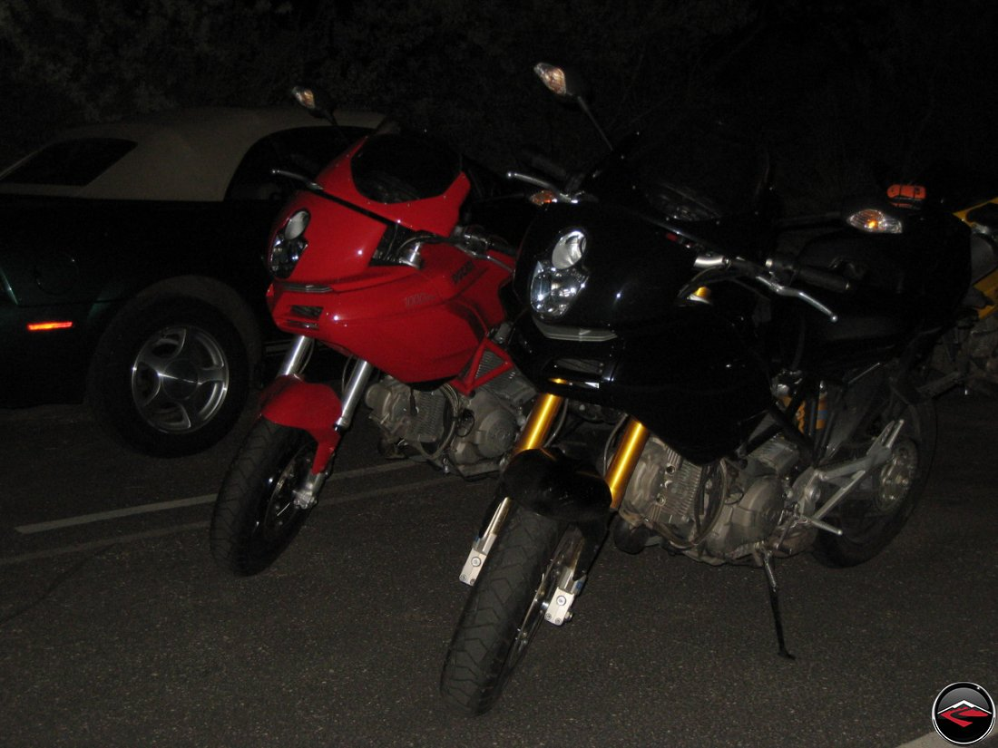 Bikes get put away for the evening