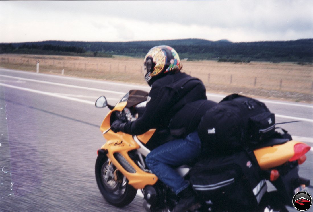 crossing Montana on a Honda VTR1000 Superhawk