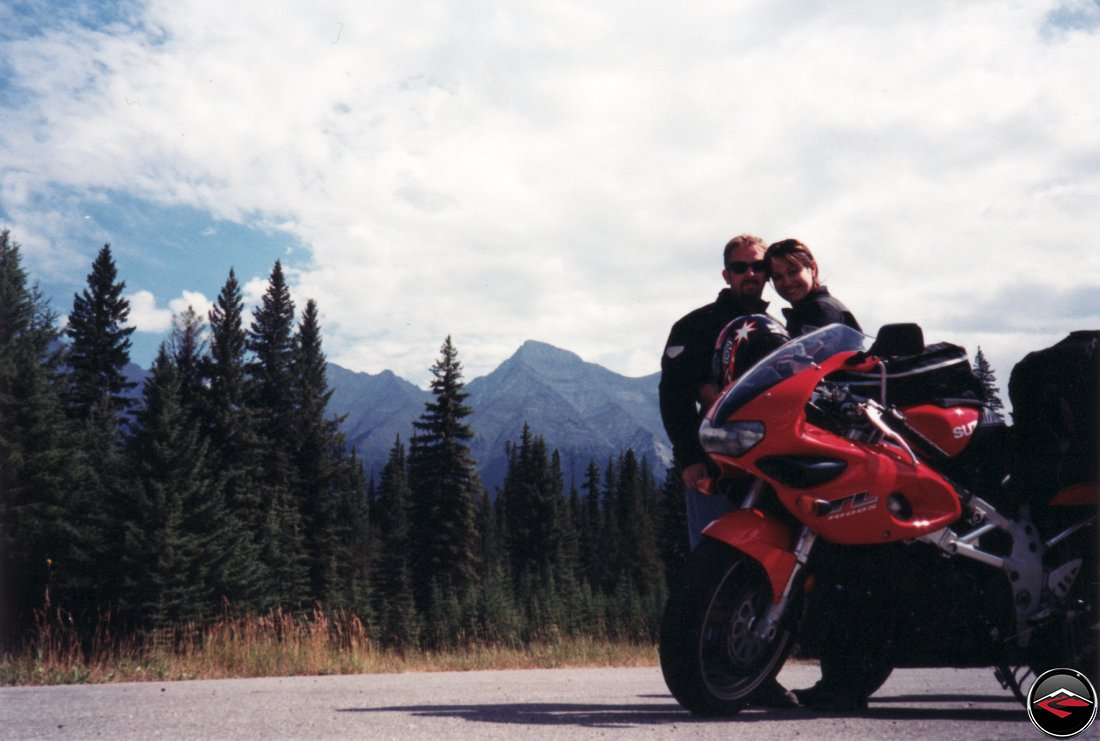 Suzuki TL1000S motorcycle in the Canadian cuddles