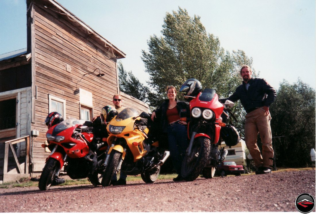 historic henry store Suzuki TL1000S and Honda Superhawk and Yamaha TDM850