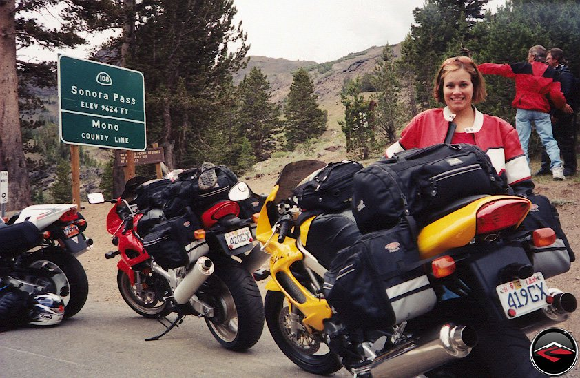Kris on Sonora Pass