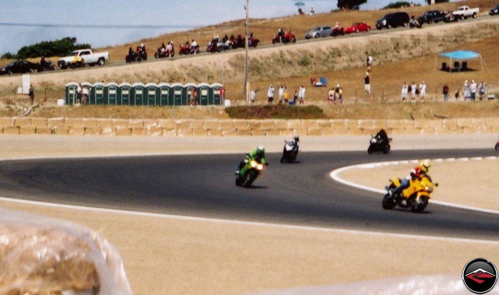 Kris at Laguna Seca Raceway Parade Lap