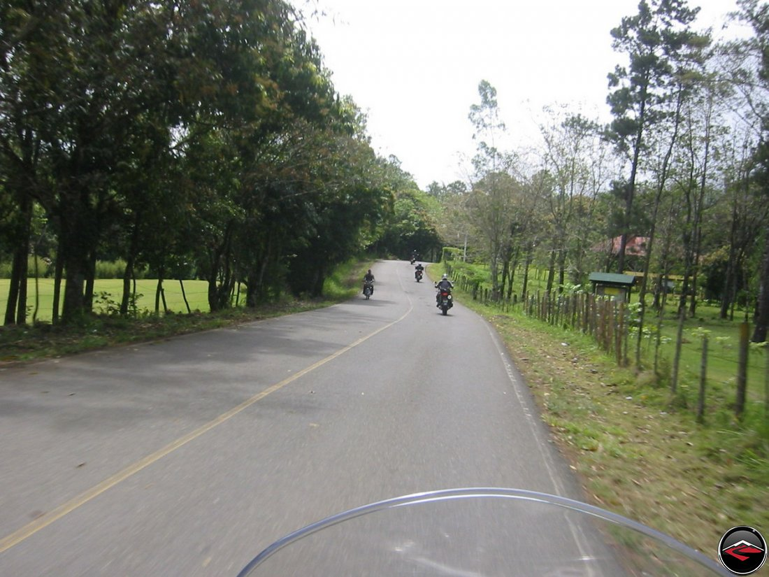 Motorcycles in the Dominican Republic on high quality asphalt roads