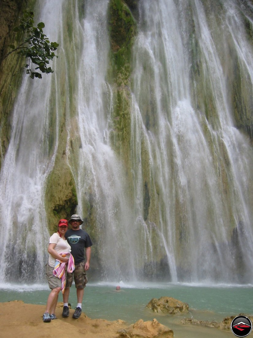 huge waterfall at Cascada El Limon Dominican Republic