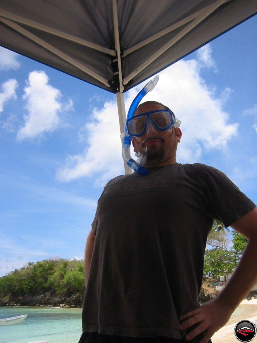 snorkel man