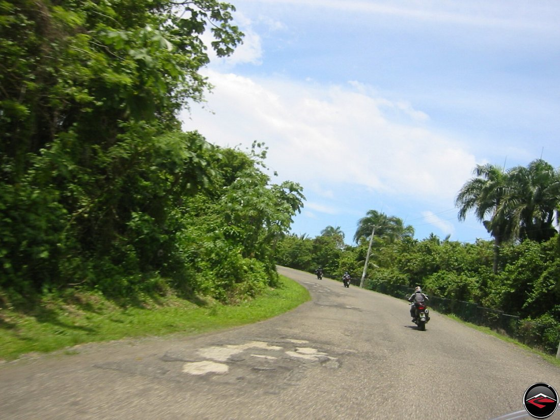 motorcycles riding to lunch in the dominican republic