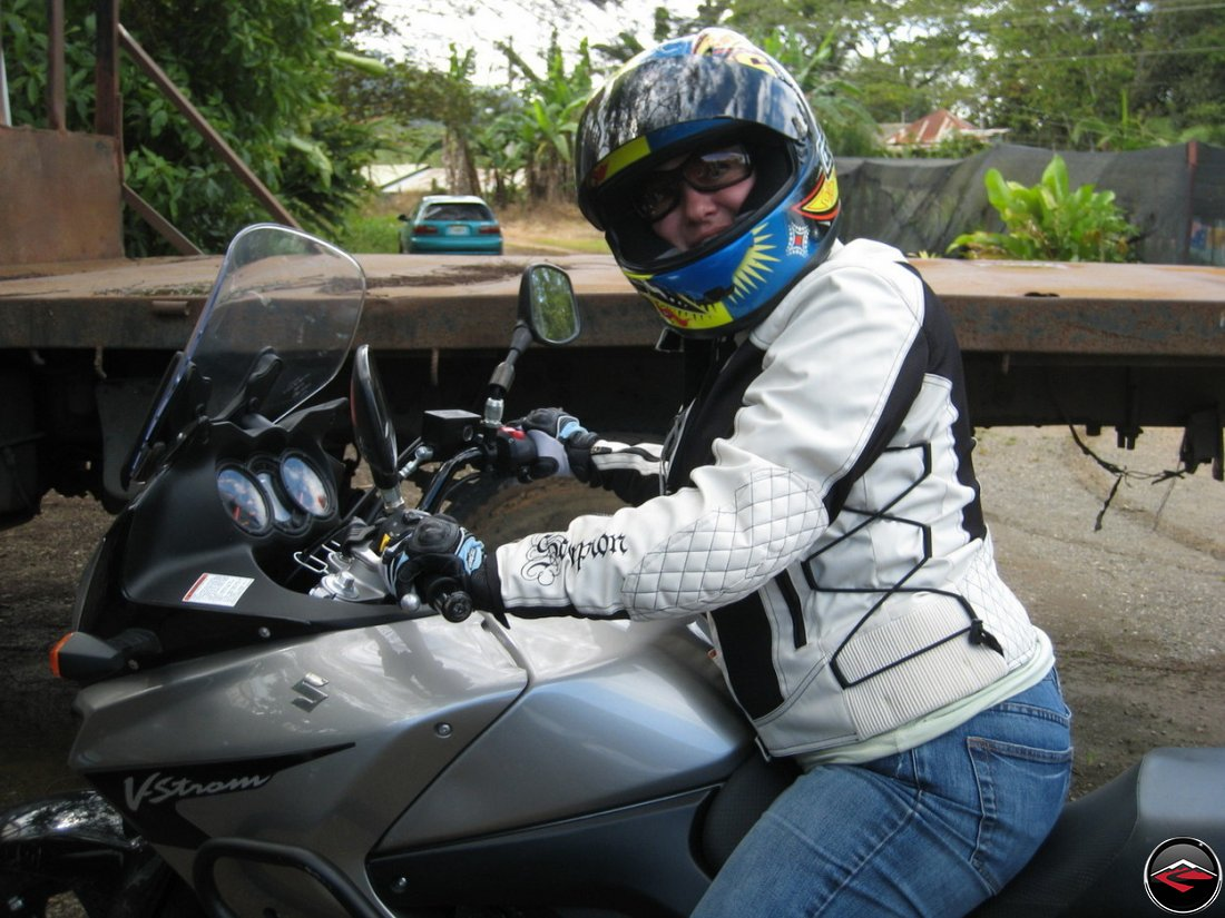 MotoCaribe Motorcycle Rider at Monte Alto Coffee