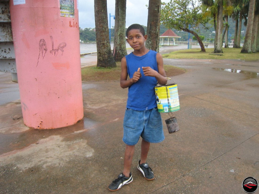Antonio sells peanuts in Samana, Dominican Republic