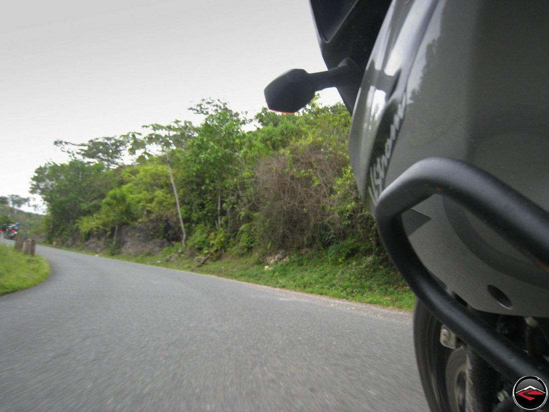 motorcycle riding through corners in El Limon Samana Dominican Republic