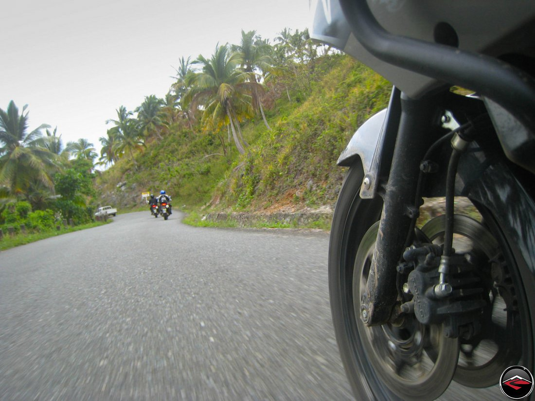 motorcycles Crossing another mountain range in El Limon Samana Dominican Republic