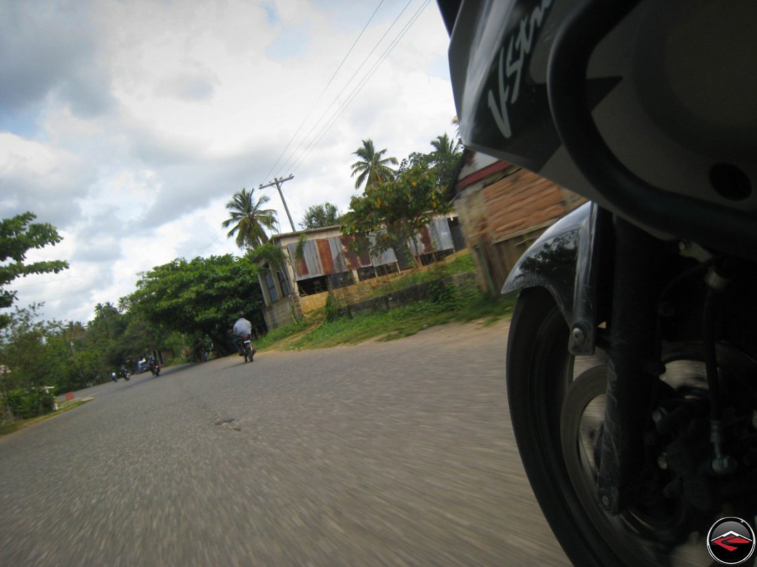 motorcycle riding through the dominican republic