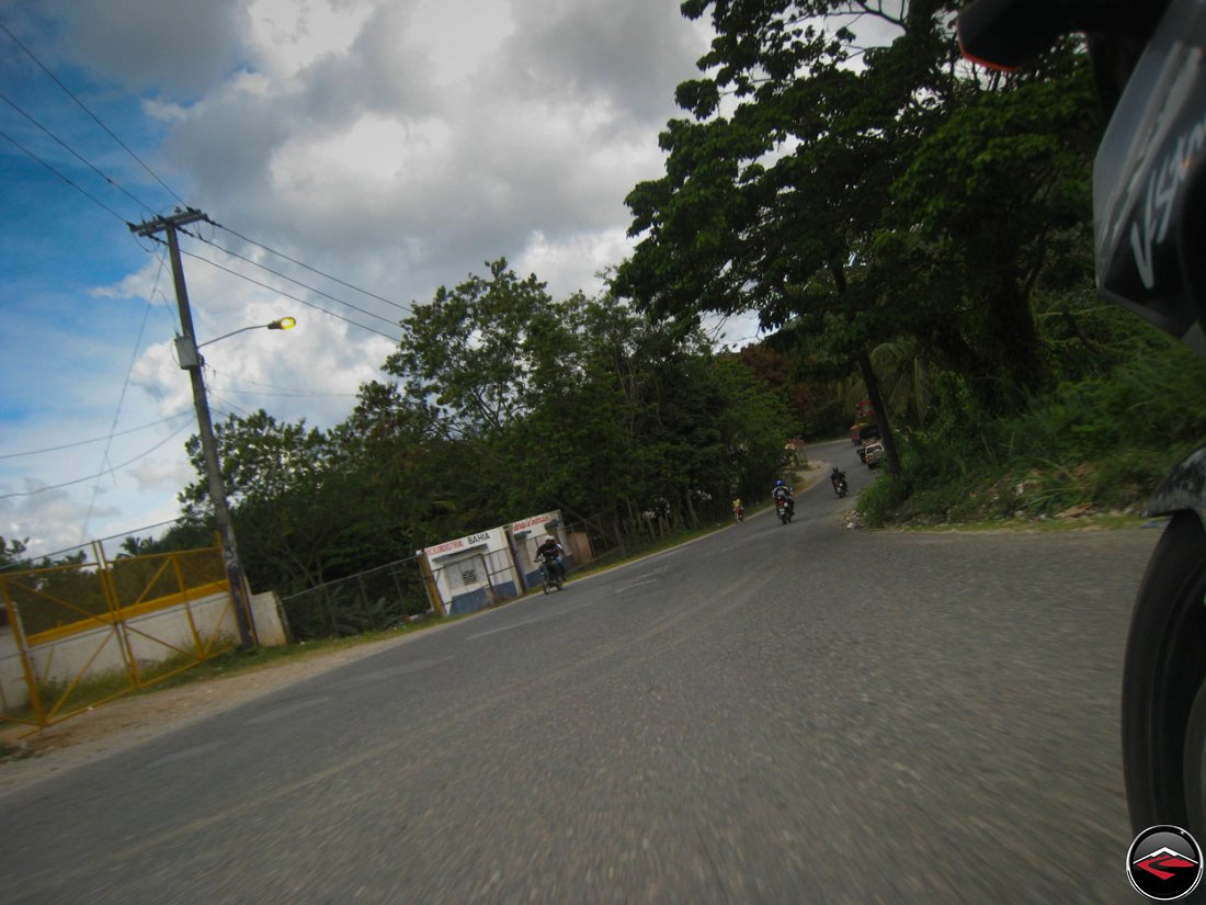 S-curve on the road in the dominican republic