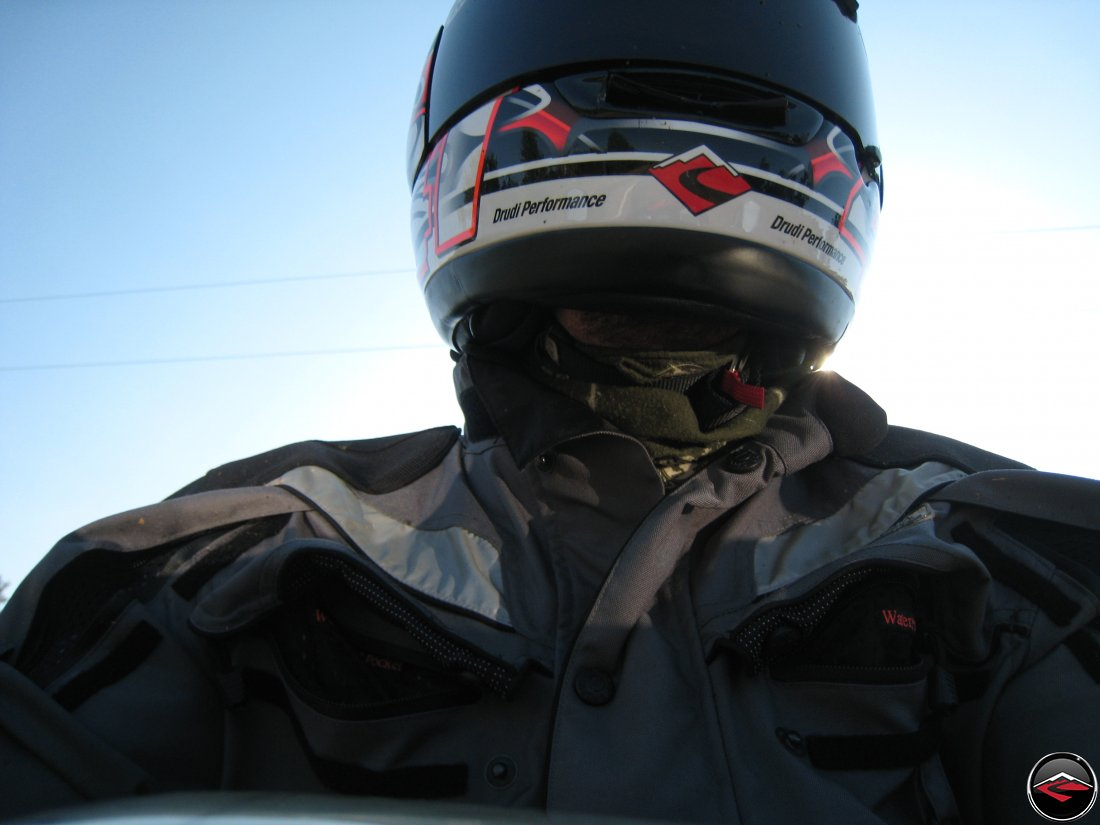 Wearing a Buff for motorcycling