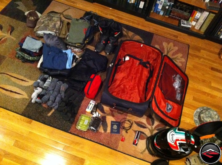 packing for a two week motorcycle trip