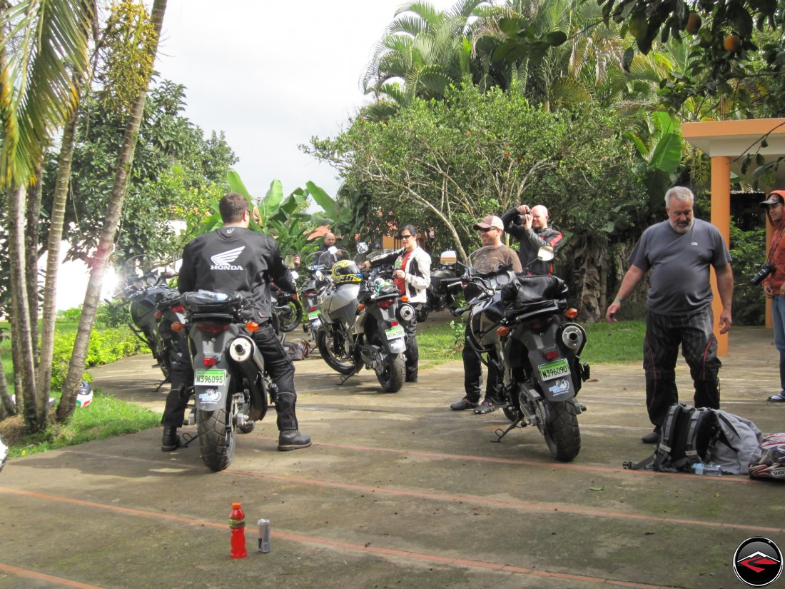 Fleet of Suzuki V-Strom 650 Motorcycles