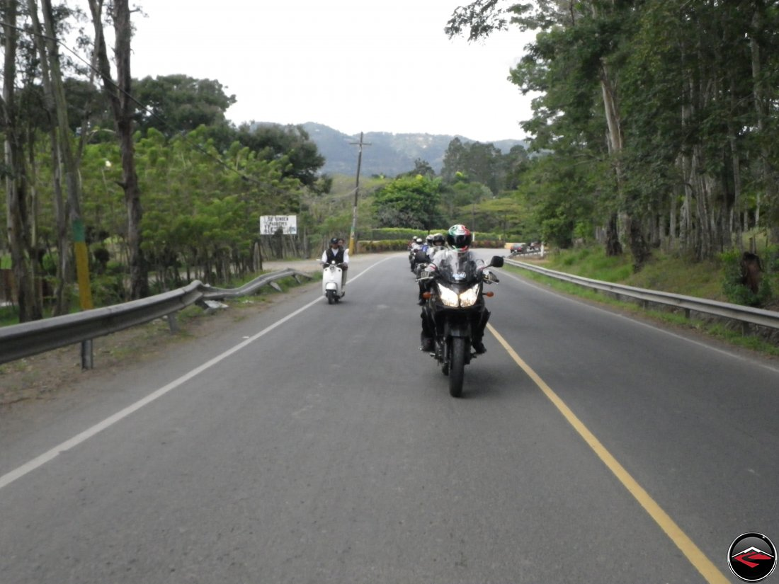 Dave riding through Jarabacoa in the Dominican Republic on his Suzuki V-Strom 650