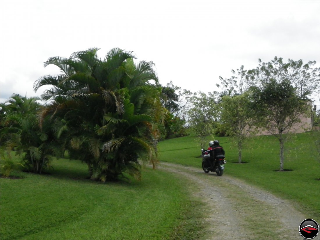 The driveway at the Mi Vista Mountain Resort in the Dominican Republic