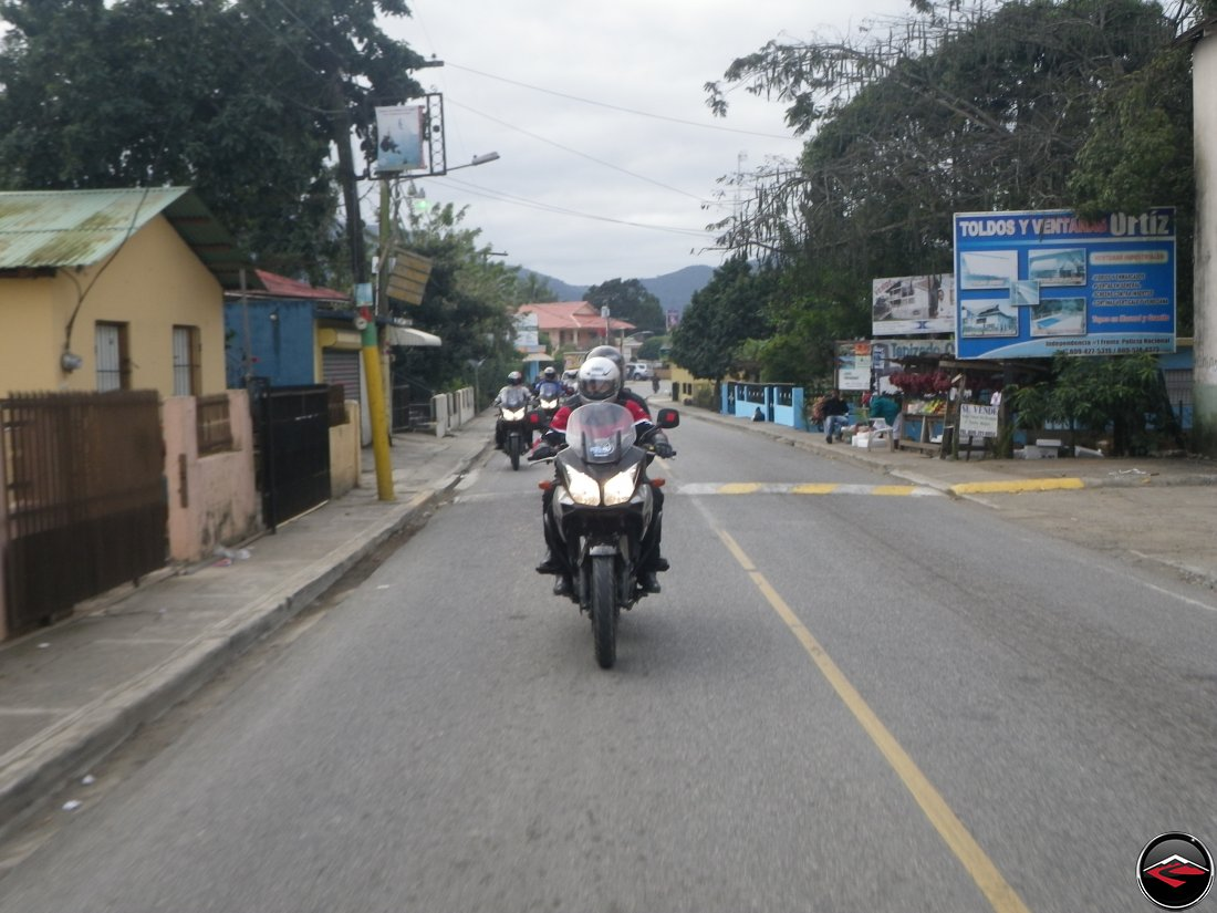 Riding a Suzuki V-Strom 650 in Jarabacoa Dominican Republic