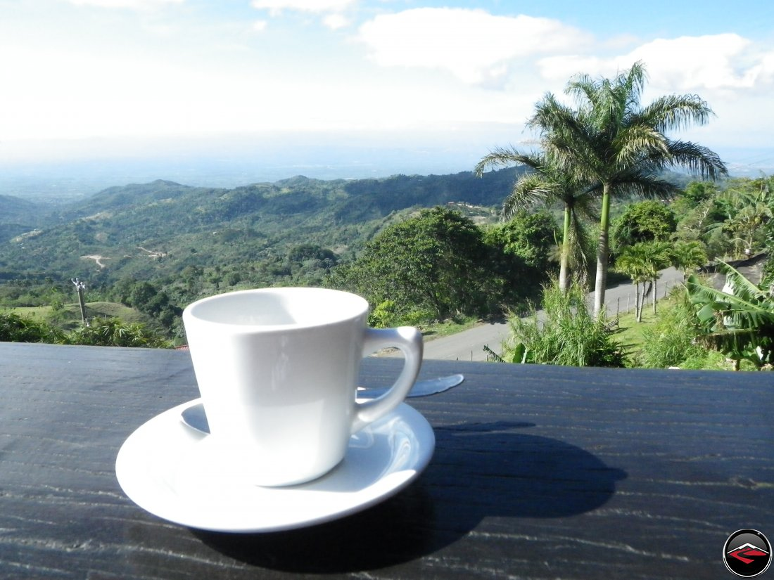 Coffee on the pation at Cafeto Restaurant Espaillat Dominican Republic