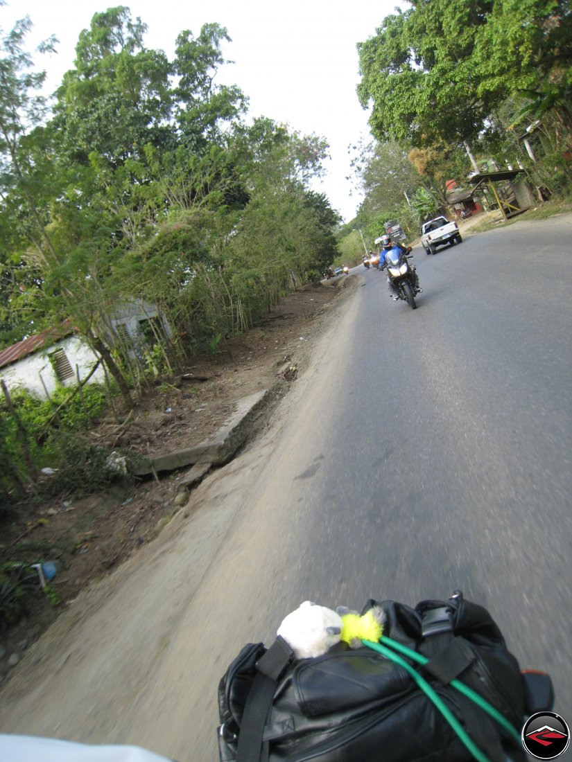 Motorcycles riding highway 21 towards Sabaneta de Yasica Dominican Republic