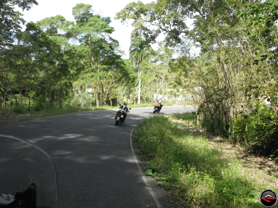 Riding motorcycles along Highway 21 towards Sabaneta de Yasica Dominican Republic