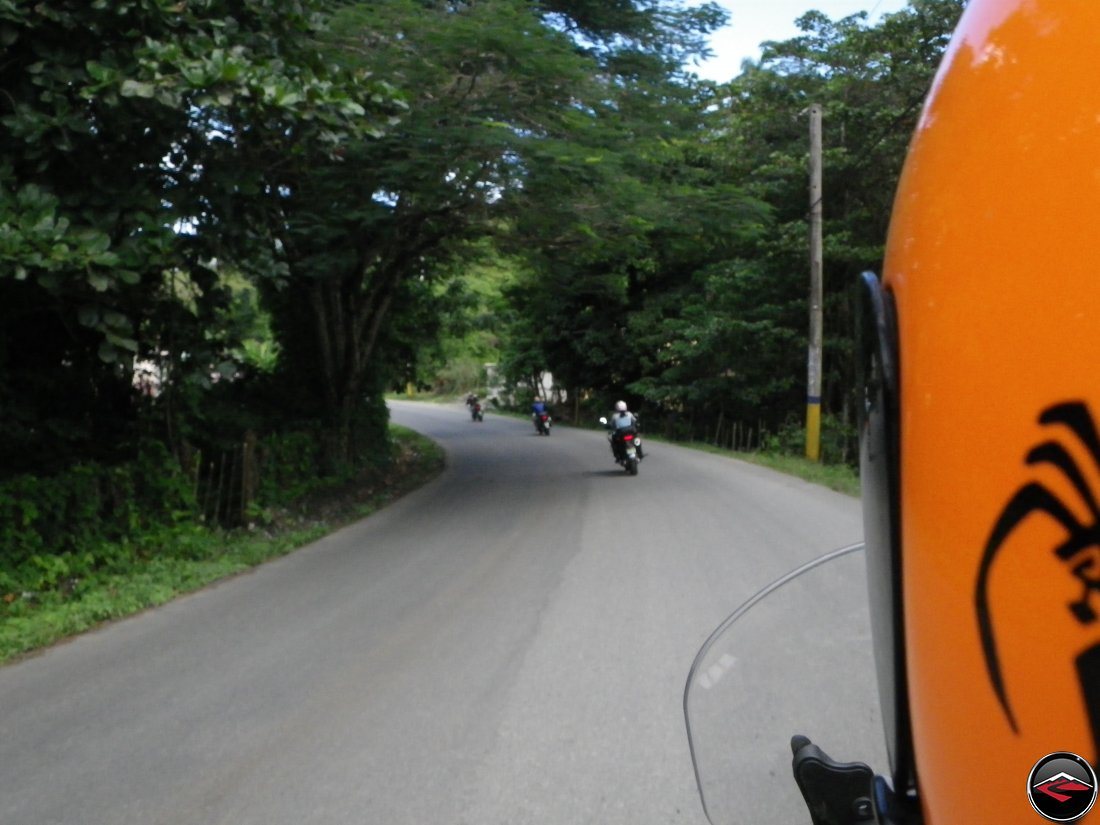 riding along Highway 5 on the north coast of the Dominican Republic