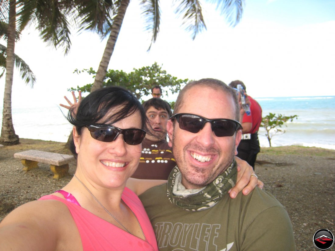 Warren Photobombing Dave and Kris in the Dominican Republic