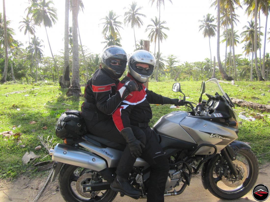 Don and Shirley Two-Up on their Suzuki V-Strom 650 Motorcycle