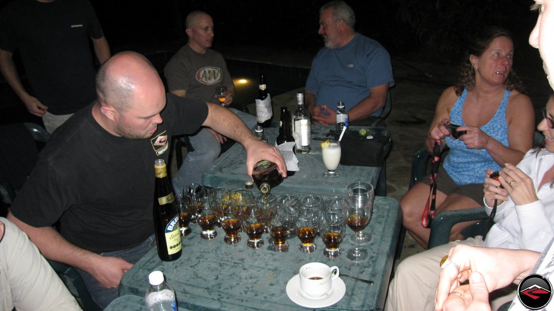 Rum Taste Test La Tambora Beach Resort