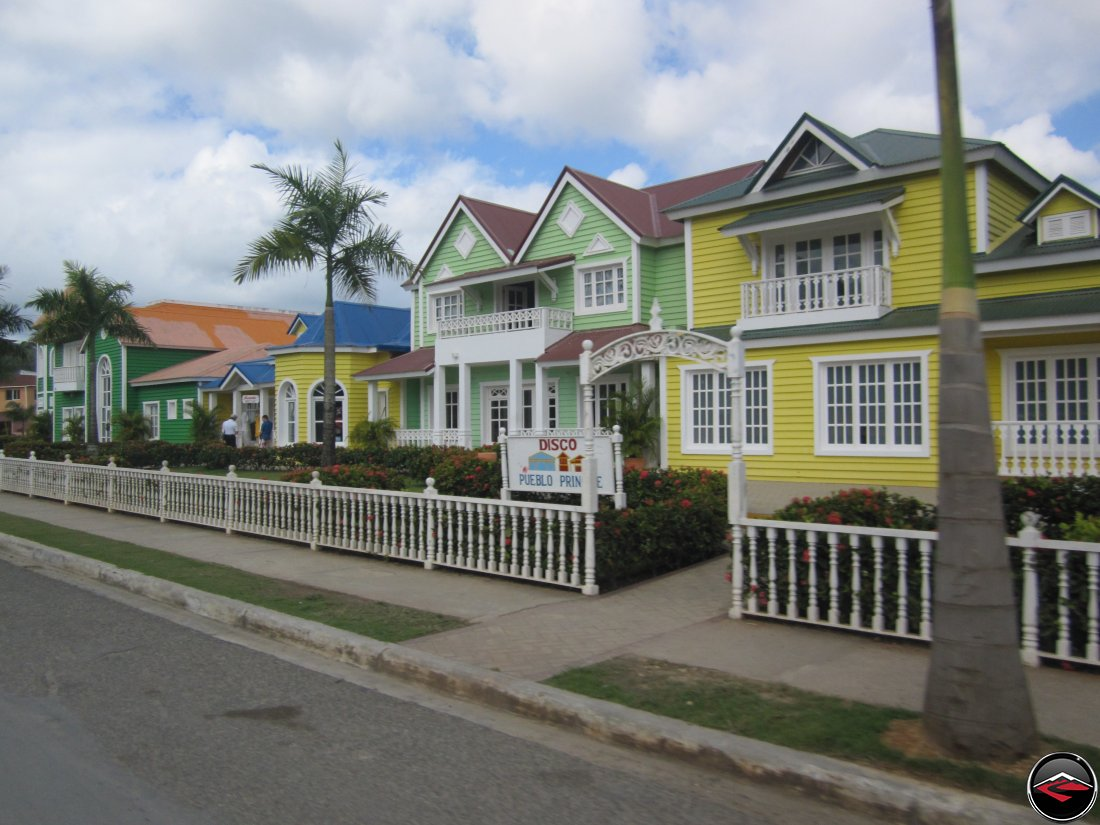 dicoteqthe painted like cute small houses in the dominican republic