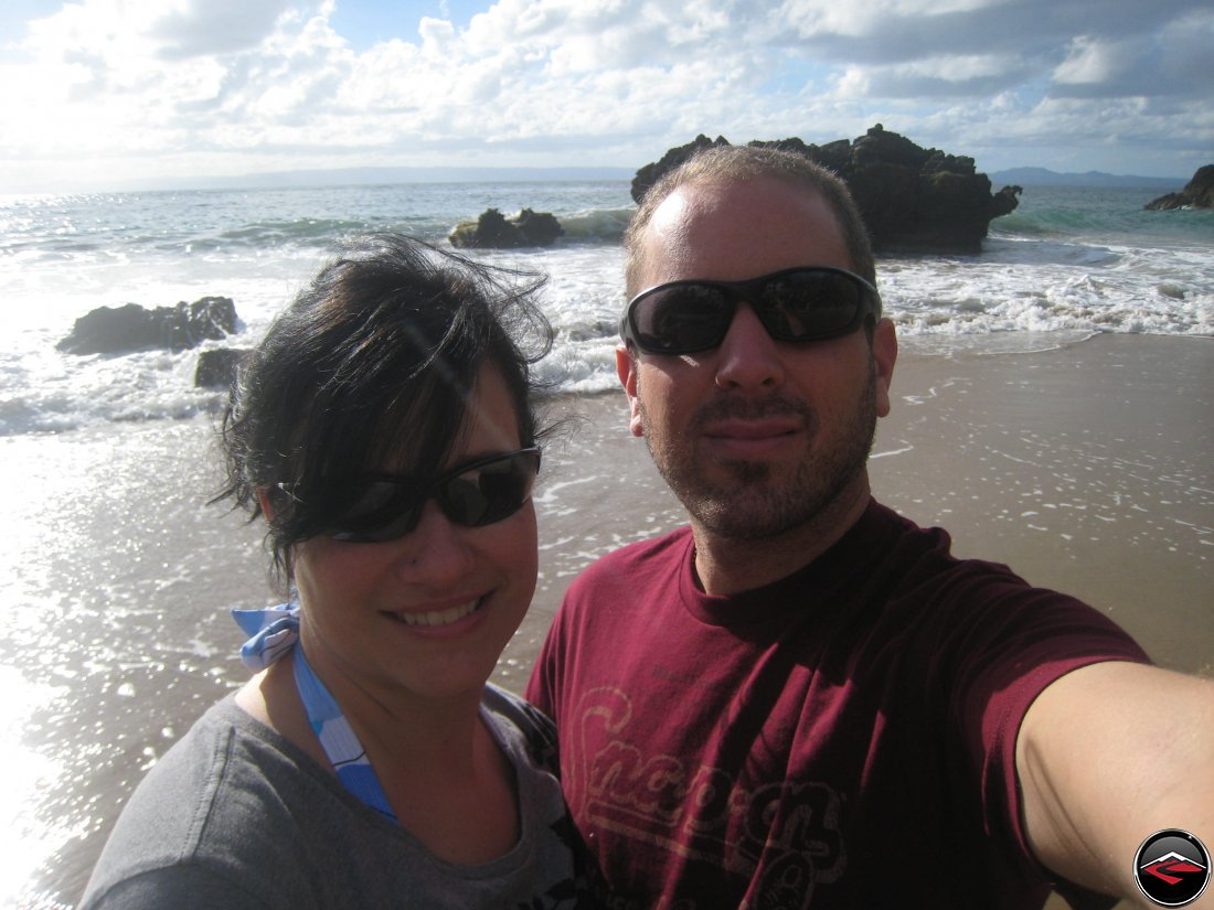 man and woman selfie on a caribbean beach La Tambora Beach Resort