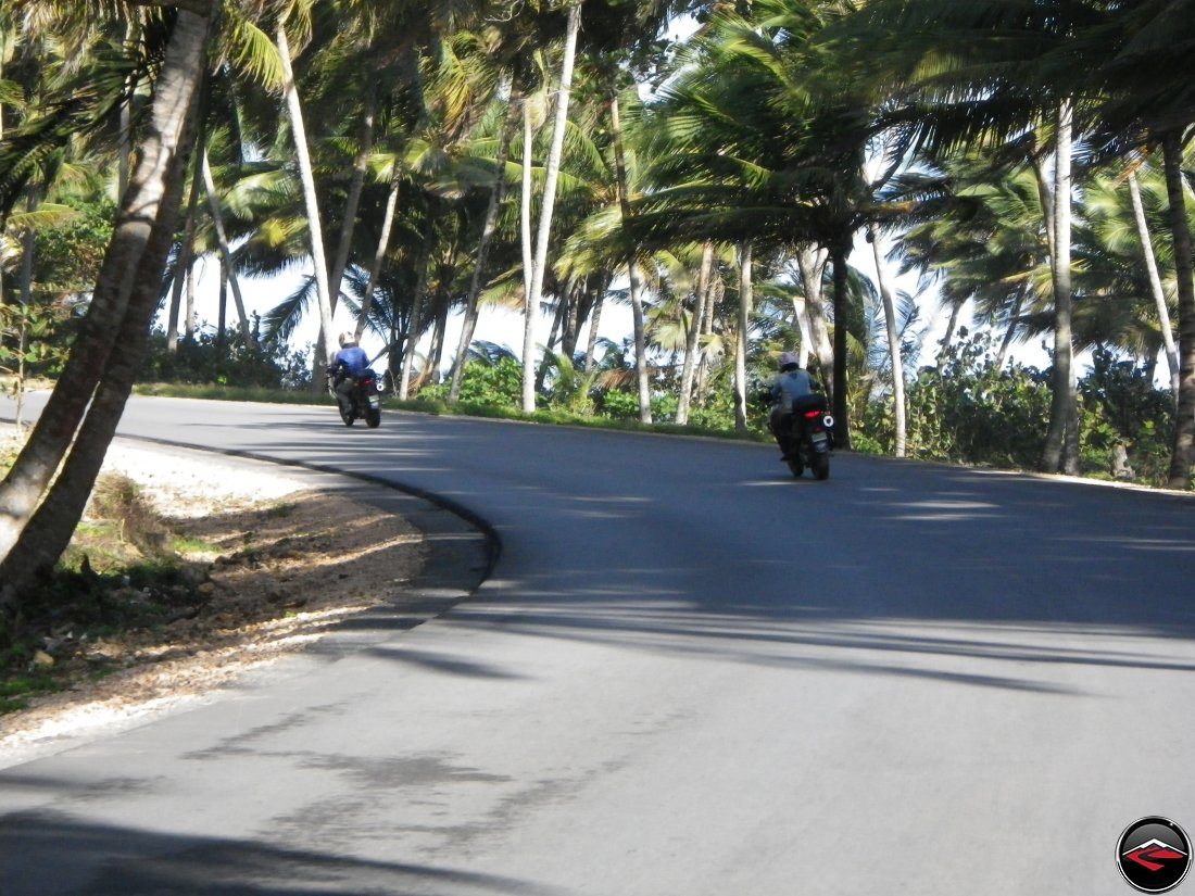 motorcycles riding along the coast