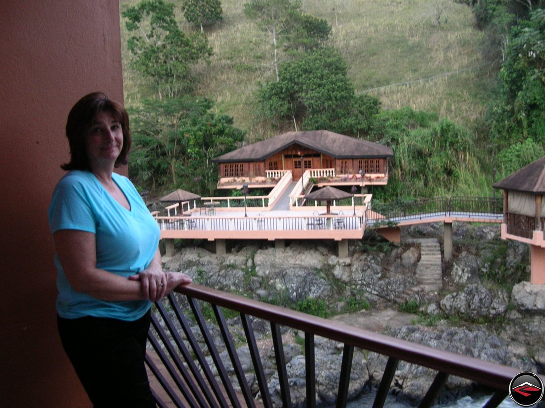Woman at the hotel gran jimenoa