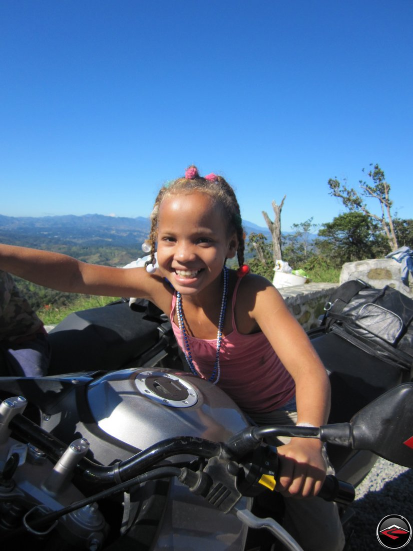 pretty young girl on a motorcycle