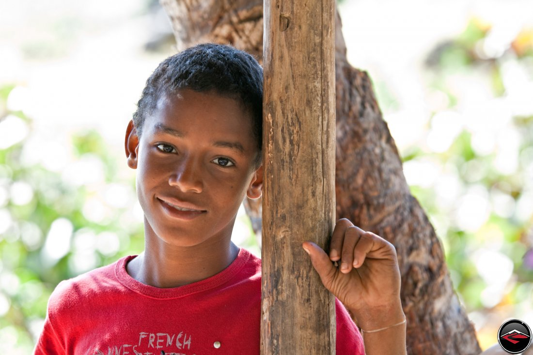 portrait of a dominican republic boy