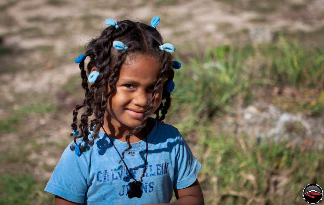 portrait of a pretty little girl from the dominican republic
