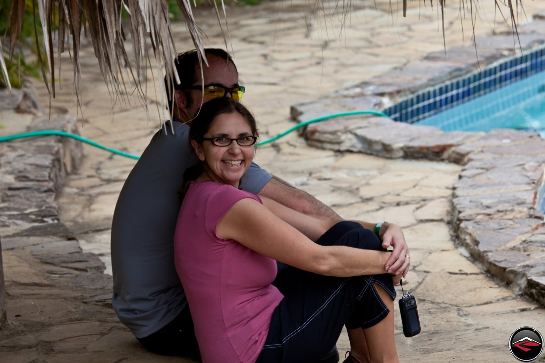 Eric and Dawn Cuddle by the Pool at Mi Vista Mountain Resort in the Dominican Republic